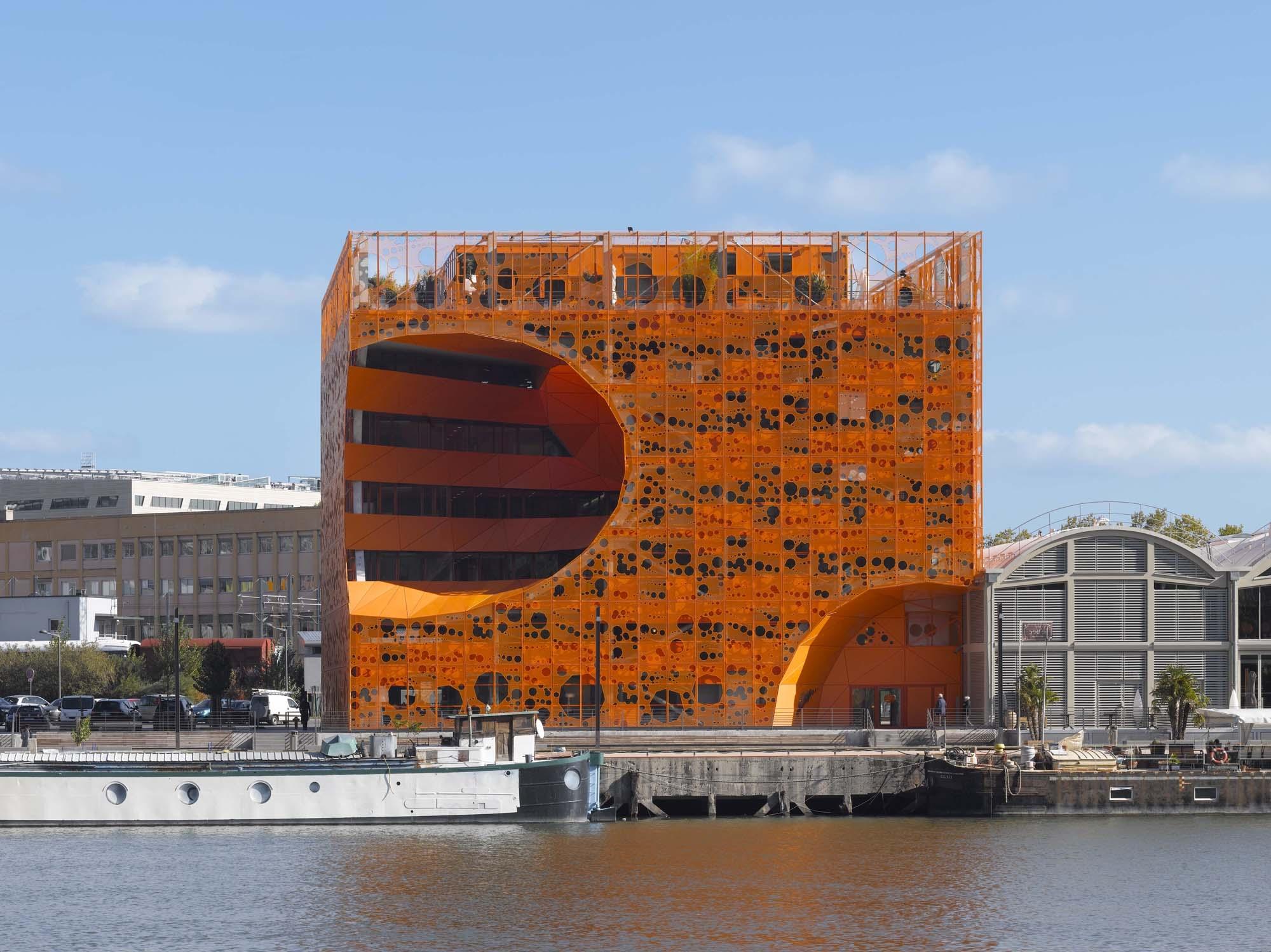 The Orange Cube By Jakob Macfarlane Lyon France Architectural Review