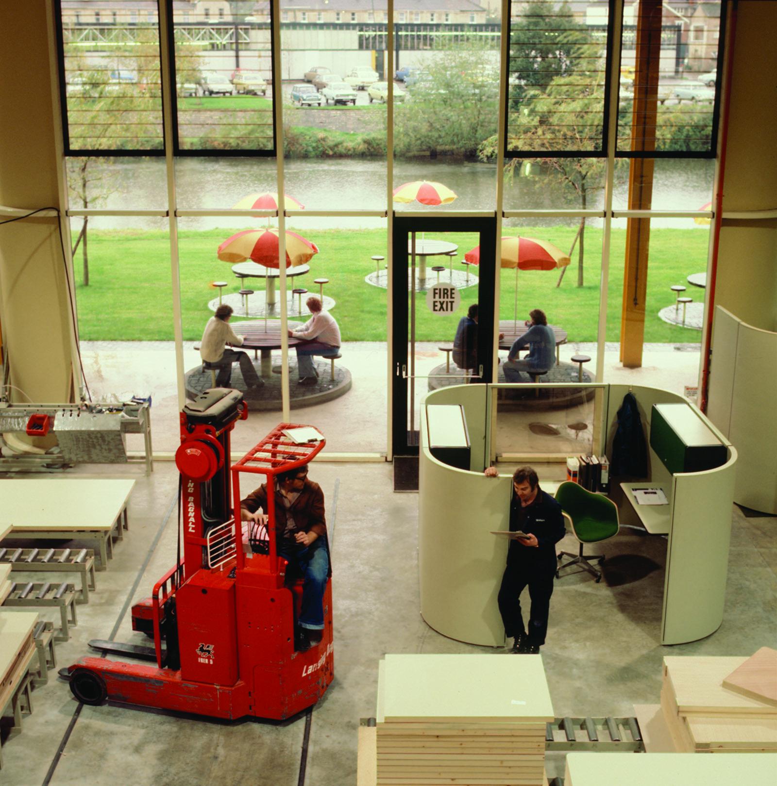 The Herman Miller factory floor in 1976