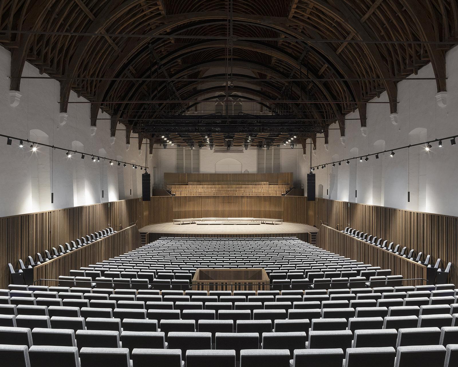Concert Hall, Muziekcentrum de Bijloke in Ghent, Belgium by DRDH Architects