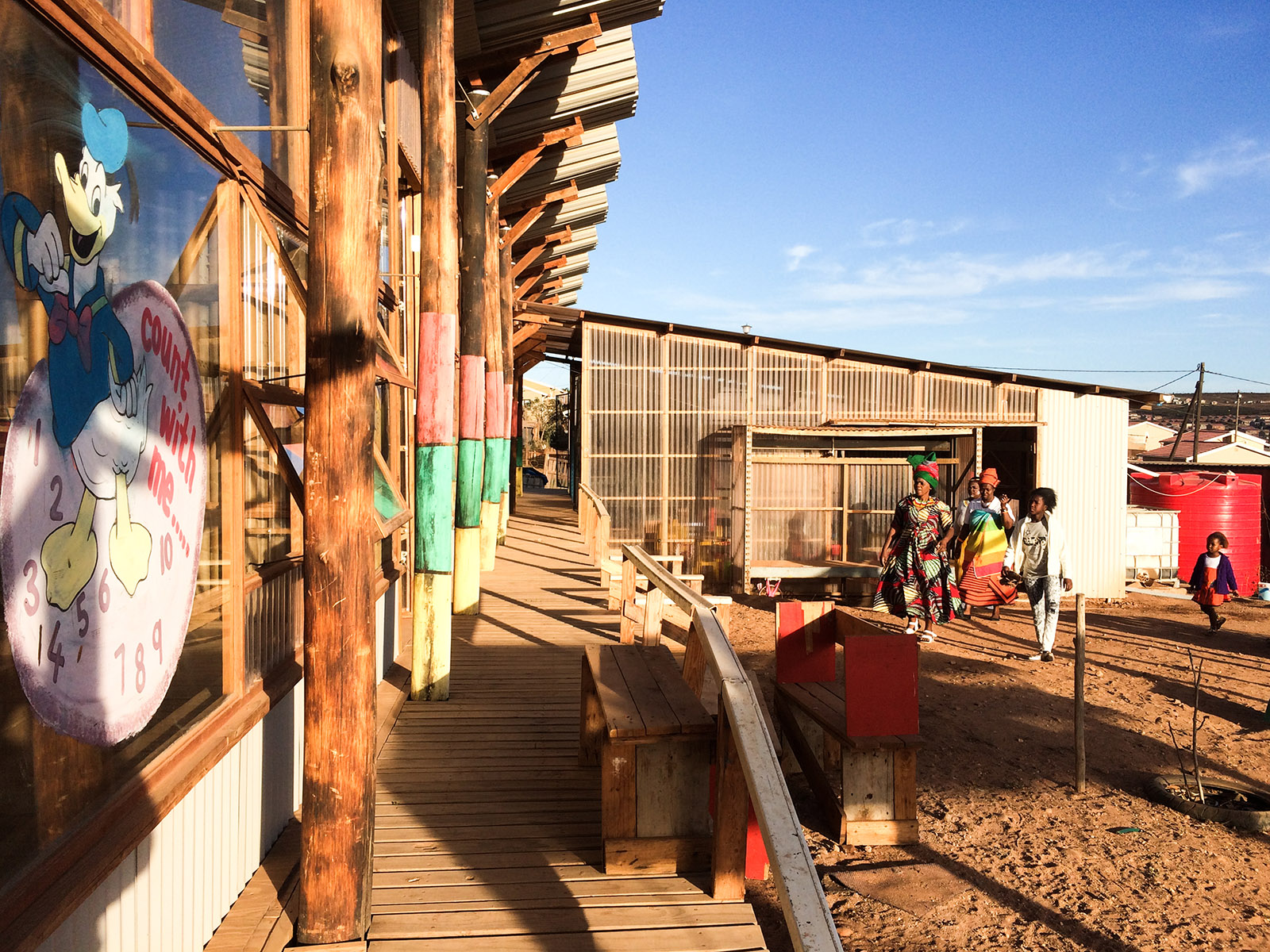 A preschool made of timber and corrugated plastic