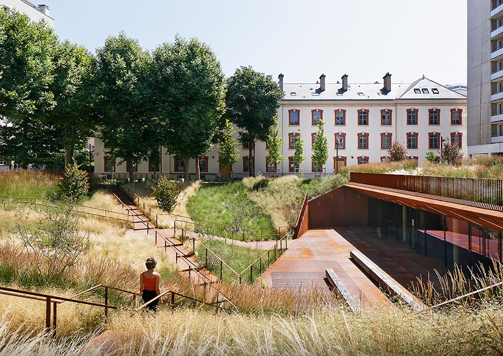 University of Law-Paris I, modernisation of the Lourcine Barracks in Paris, France by ChartierDalix