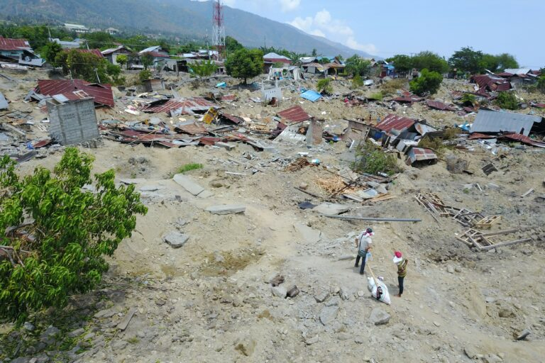 Significant soil movement beyond expectations at Palu