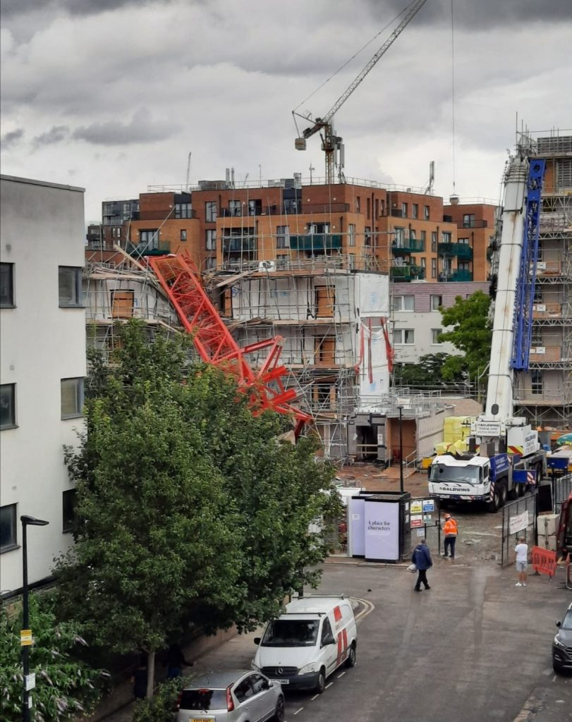 East London: Crane Falls On East London Homes