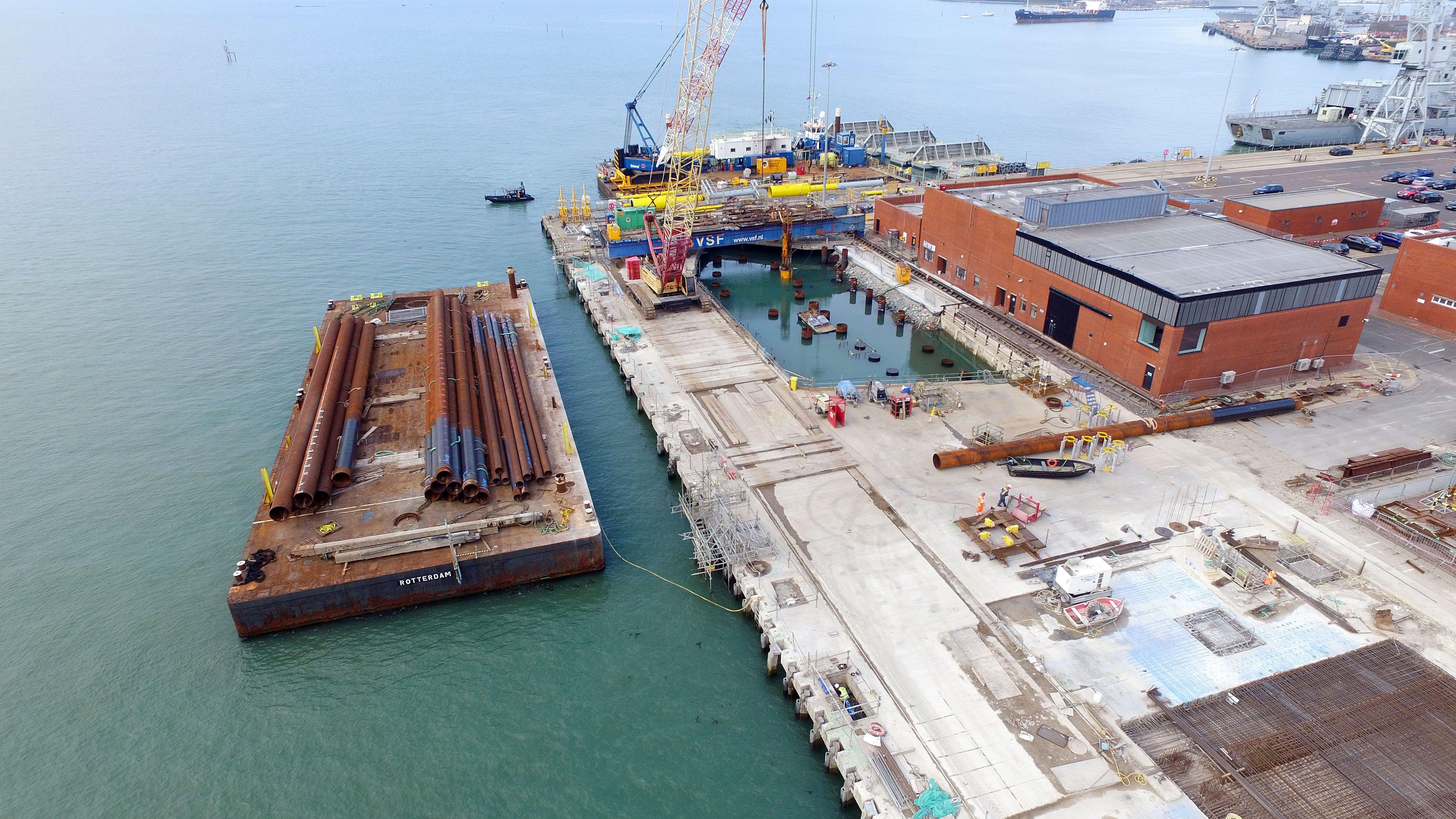 Marine | Portsmouth's new Navy jetty - New Civil Engineer