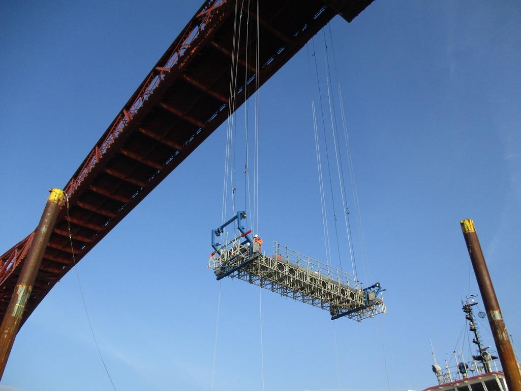 Forth rail bridge steel deck repairs begin - New Civil Engineer