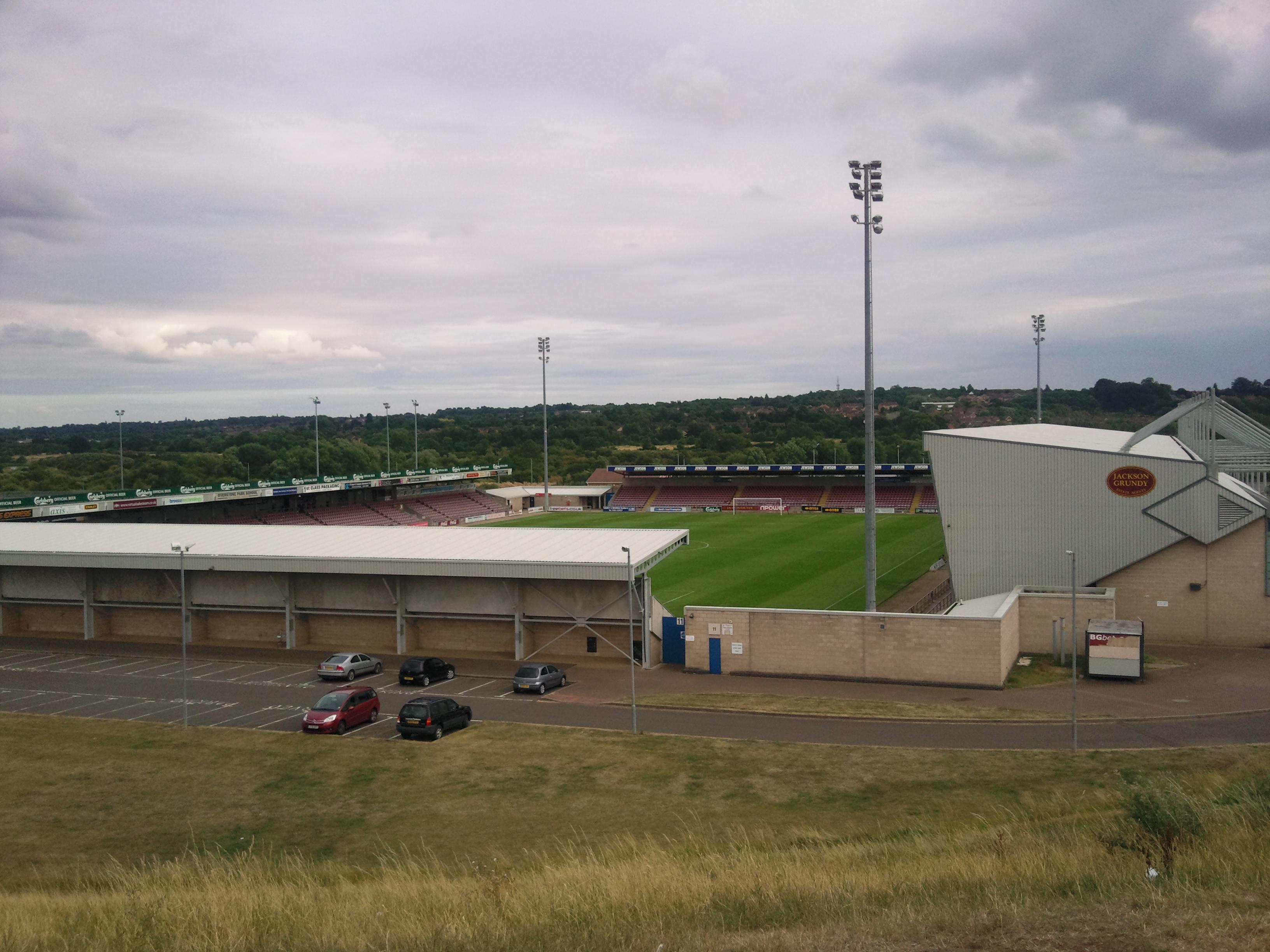 "Image result for Northampton Football club's redevelopment of stadium roof"""