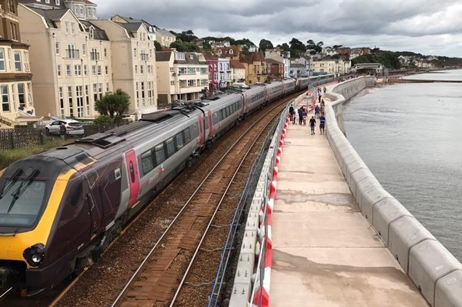 First section of Dawlish sea wall opened - New Civil Engineer